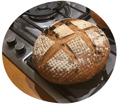 Baking sourdough bread: making the most of lockdown